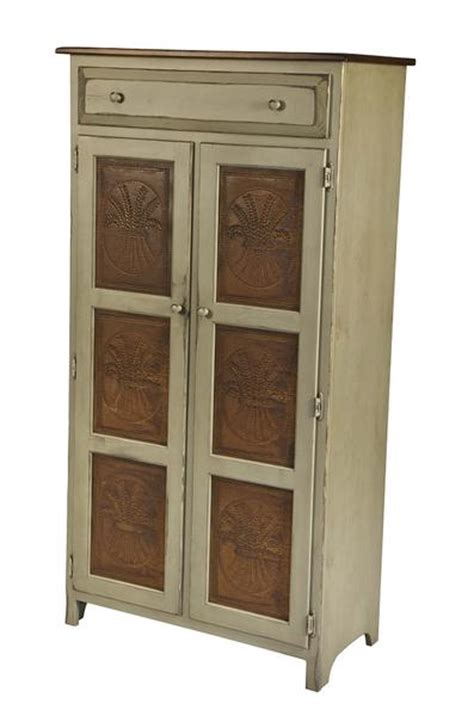 amish handmade large  pie safe hutch  punched tin