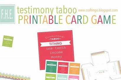 Taboo Printable Testimony Printables Cards Card Lds
