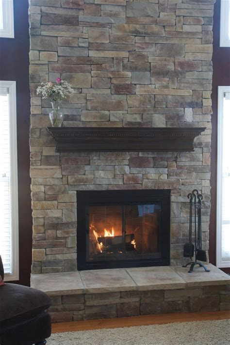 Living Room Extraordinary Stone Fireplaces For Home