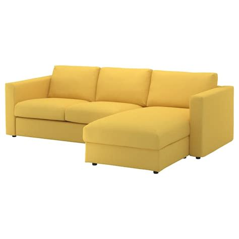 vimle sofa ikea assembly vimle 3 seat sofa with chaise longue orrsta golden