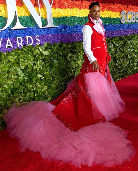 Tony Awards Billy Porter Wears Kinky Boots Curtain
