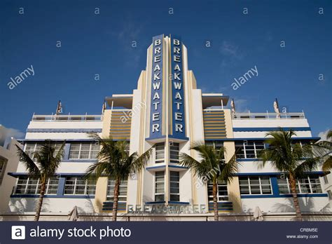 breakwater deco hotel on drive in south miami stock photo royalty free