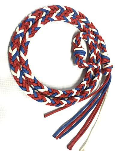 foto de Amazon com: over and under whip red white and blue horse