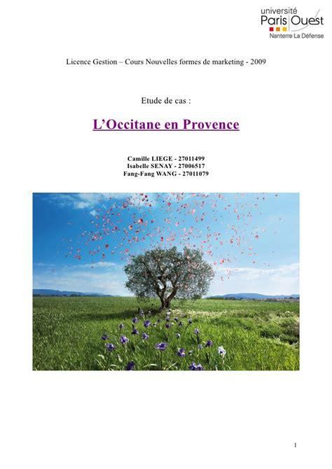 l occitane en provence si鑒e social l3 s1 2009 l 39 occitane en provence