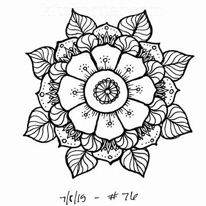 Mandalas Sketchbook Challenge Week Mandala Kitskorner Coloring