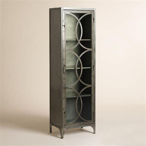 glass curio cabinet metal and glass half circle eriksen curio cabinet world