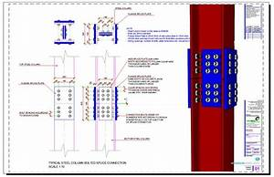 Civil Engineering Design Software Free Steel Column Bolted Splice Extension Connection Steel