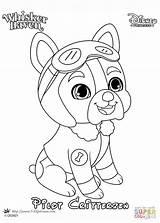 Coloring Haven Whisker Pilot Pages Pets Palace Printable Disney Princess sketch template
