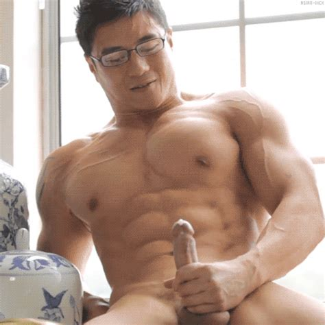 asian muscle jerk off