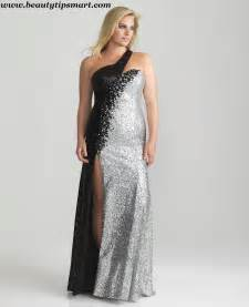 Black and Silver Plus Size Dresses