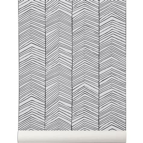 papier peint herringbone de ferm living papier peint