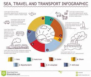 Sea Travel And Transport Infographic Stock Vector