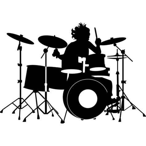 drummer silhouette wall sticker  wall art