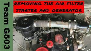 Team G503 Removing The Starter  Generator  Air Filter
