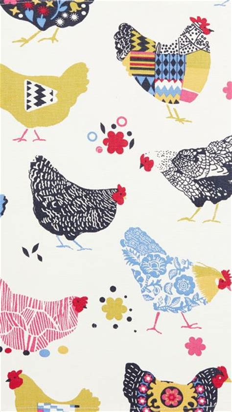 Farm Animal Wallpaper For Kitchen - the 25 best chicken pattern ideas on chicken