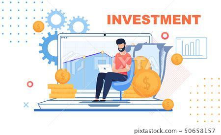 Financial Investment Metaphor Flat Cartoon Banner - Stock ...