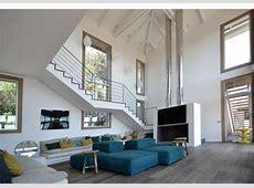 Unique Open Beam Ceiling House Design