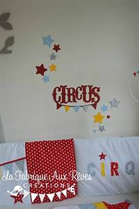 stickers cirque étoiles rouge jaune bleu gris décoration chambre bébé cirque Décoration