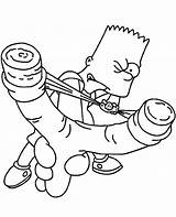 Simpson Bart Coloring Simpsons Slingshot Printable Homer Magic Lisa Rapper Sheets Characters Colour Template Bartman Skateboarding Head Cool Halloween Kerra sketch template