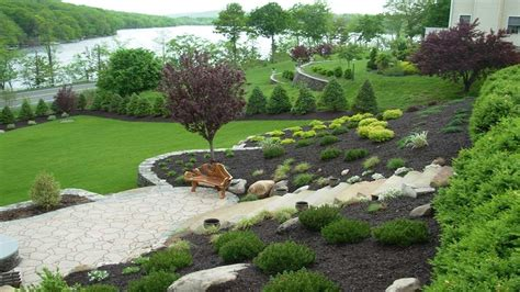 ideas for gardens with slopes attractive landscaping ideas for slopes bistrodre porch and landscape ideas