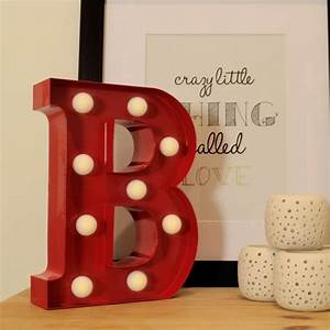 red light up letter b metal alphabet lights find me a gift With letter b gifts