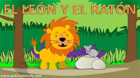 El León Y El Ratón  Fábulas Para Niños  Cuentos Con