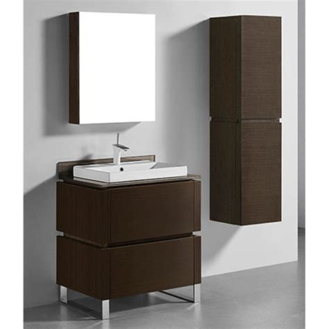 Modern Bathroom Glass Vanities by Madeli Metro 30 Quot Bathroom Vanity For Glass Counter And