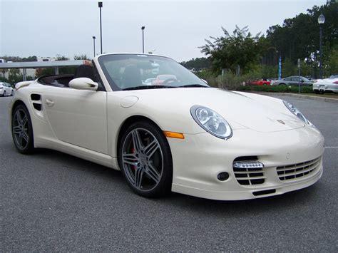 white porsche 911 turbo 2009 porsche 911 turbo cab in cream white with cocoa