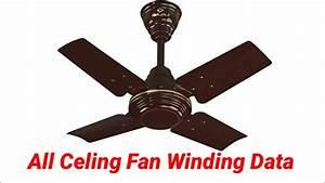 Ceiling Fan Winding Data With Diagram Pdf