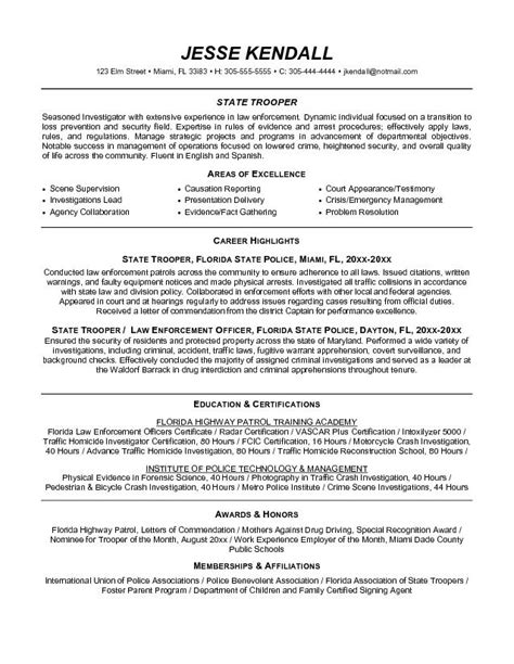 free enforcement resume exle writing resume