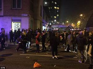 London Halloween rave sees riot police pelted with ...