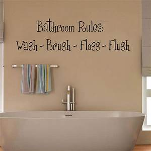 Bathroom wall decor stickers peenmediacom for Wall art stickers for bathrooms