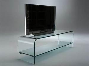 Meuble Tv Arrondi : tango meuble tv en verre courb ~ Teatrodelosmanantiales.com Idées de Décoration
