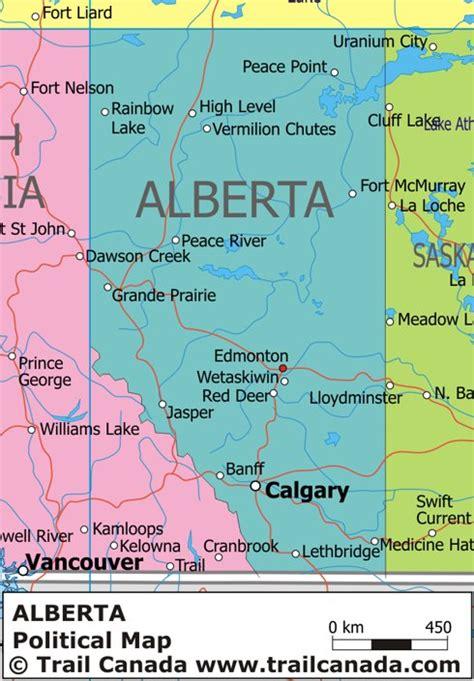 political map  alberta canada