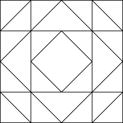 geometric block pattern  clipart