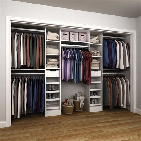 home depot closet organizer systems modifi 84 in h x 75 in to 165 in w x 15 in d melamine