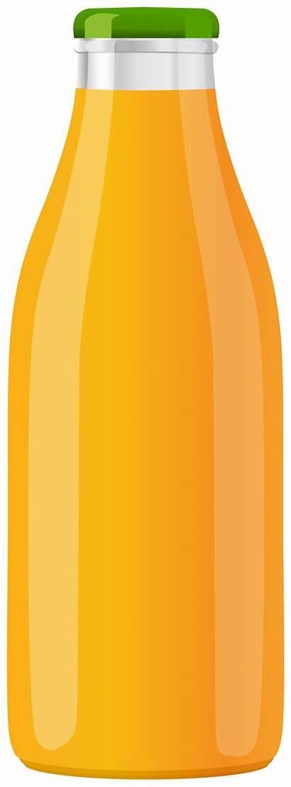 Juice Orange Clip Bottle Clipart Bottles Clipartpng