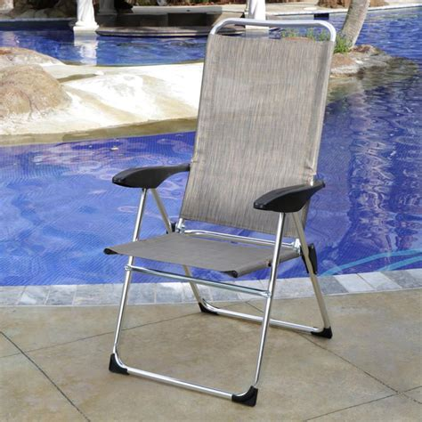 lightweight adjustable folding arm chair direcsource ltd