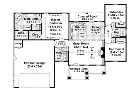 Craftsman Style House Plan 3 Beds 2 Baths 1604 Sq/Ft