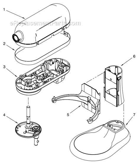 Kitchenaid Mixer Electrical Smell by Kitchenaid Kp26m1xacs5 Parts List And Diagram Cocoa
