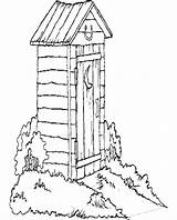 Outhouse Coloring Pages West Clipart Hunting Duck Drawing Cliparts Clip Line Wagon Covered Colouring Books Getdrawings Library Newfoundland Sheets Quilt sketch template