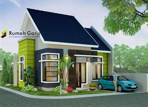 rumah minimalis modern tipe   lahan sudut  meter