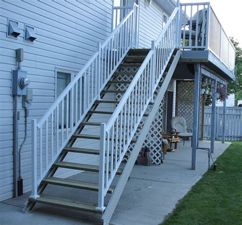 spiral stair deck stair stringers by fast stairs com