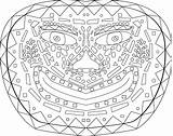 Coloring Mask African Masks Tribal Gas Halloween Kolorowanki Maski Coloringhome Safety Dzieci Dla Printable Chemical Popular sketch template