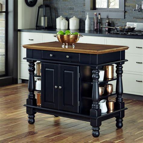 home styles americana black kitchen island  storage