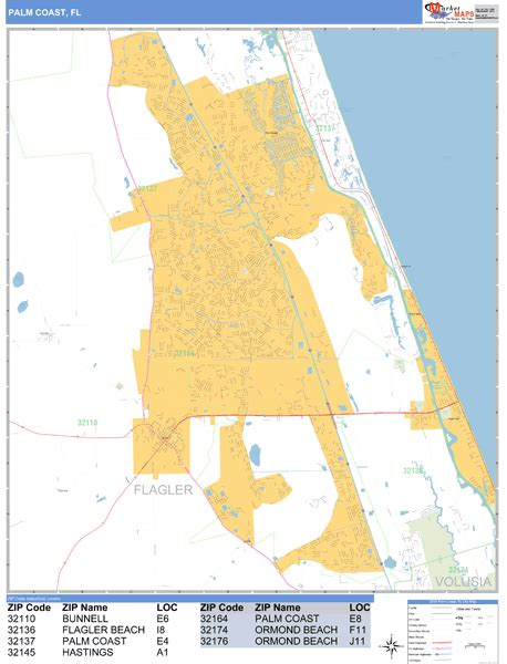 Zip Code Map Palm Coast
