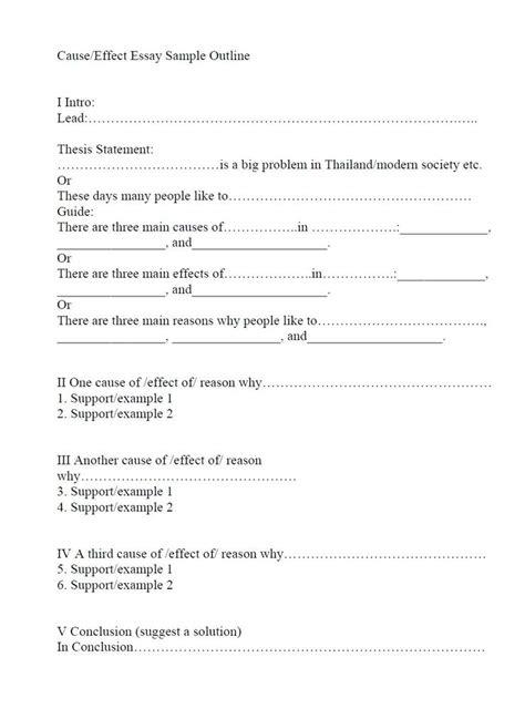 effect outline sample   effect essay