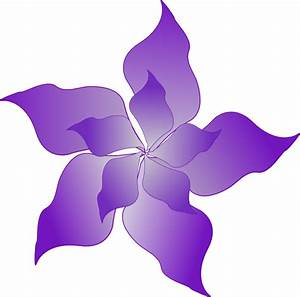 Purple Flower Clip Art at Clker.com - vector clip art ...