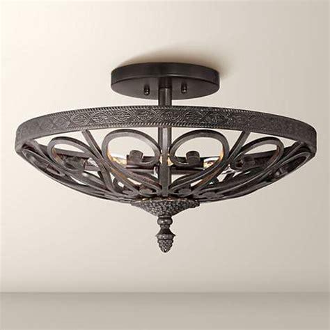 kathy ireland la romantica black iron ceiling light