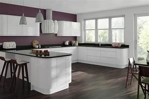 Gemini white gloss handleless kitchen proline cabinets for White gloss kitchen